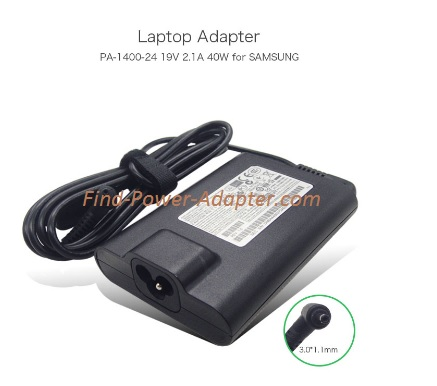 NEW 19V 2.1A 40W Samsung NP900X3A-B01US AD-4019SL PA-1400-24 Original Ac adapter