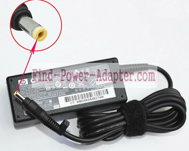 HP DC359A 18.5V 3.5A AC/DC Adapter - HP DC359A 18.5V 3.5A Power Supply Cord
