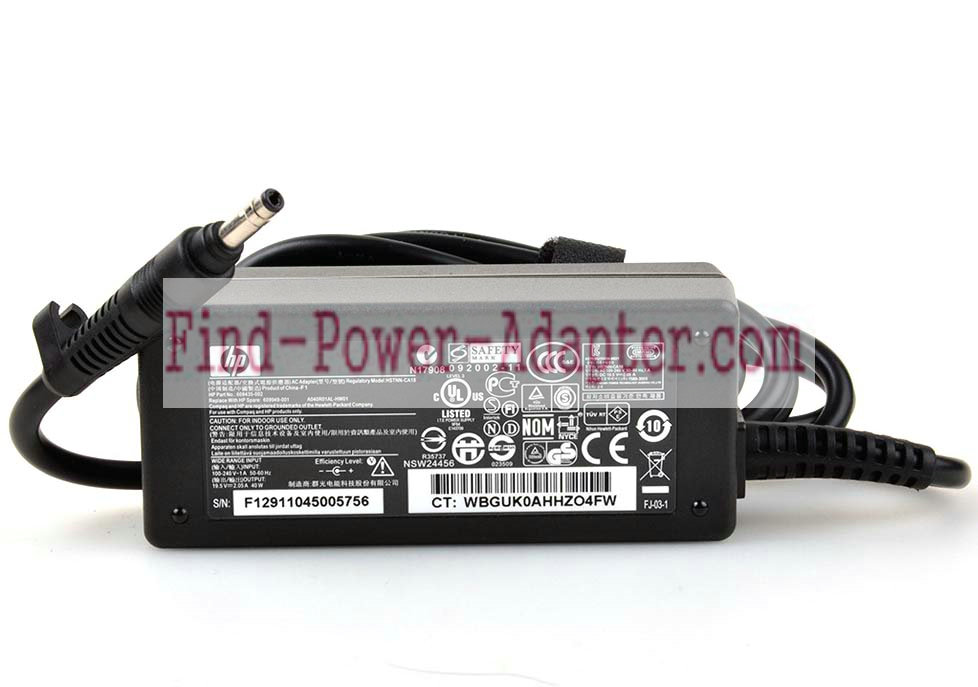 HSTNN-CA18 HSTNN-LA18 PA-1400-18HL12 HP 19.5V 2.05A 40W AC Power Adapter