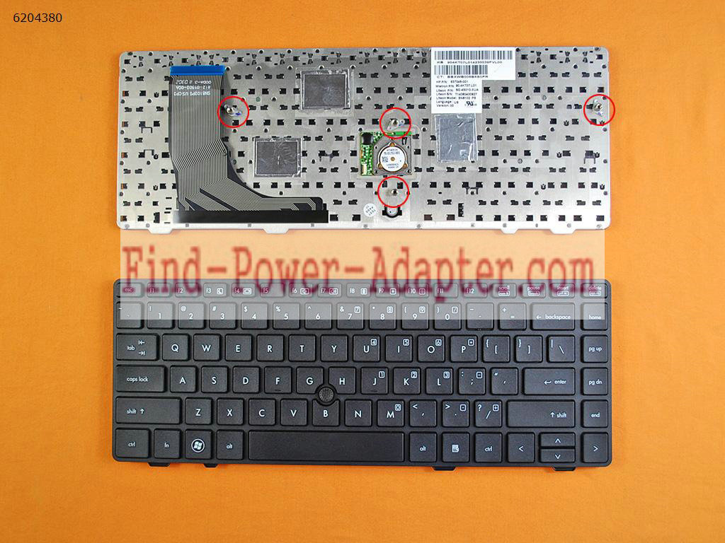 639477-001 V119030AS1 637045-001 HP ProBook 6360B Keyboard 90.4KT07.U01 90.4KT07.U1D
