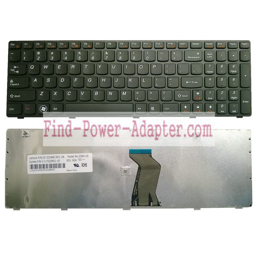 Lenovo N580 N581 N585 N586 Keyboard 25201816 MP-10A33US-686C T4G8-US