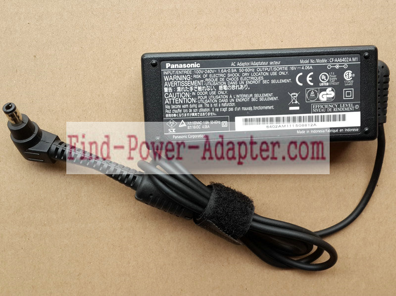 Panasonic CF-AA6402A M1 16V 4.06A AC/DC Adapter - Panasonic CF-AA6402A M1 16V 4.06A Power Supply Cor