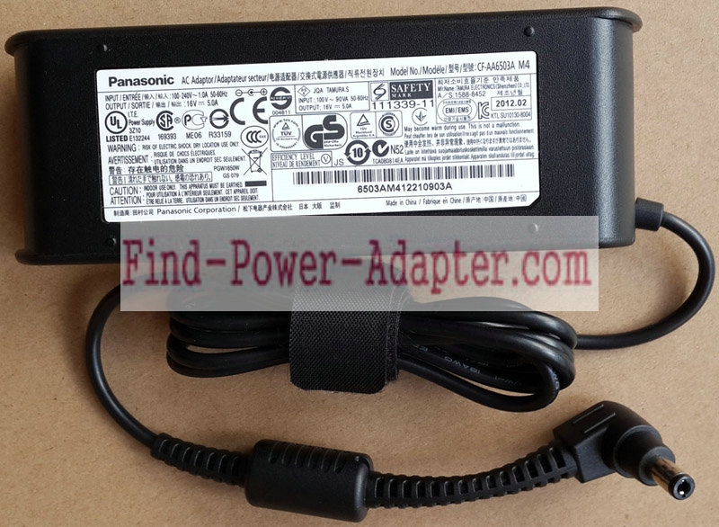 CF-AA6503A CF-AA6502A M1 CF-AA6503A2 Replacement Panasonic 16V 5A 80W AC Power Adapter Tip 5.5mm x 2