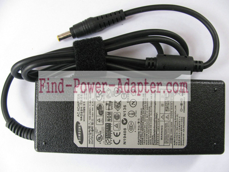 Samsung BA44-00162A 19V 4.74A AC/DC Adapter - Samsung BA44-00162A 19V 4.74A Power Supply Cord