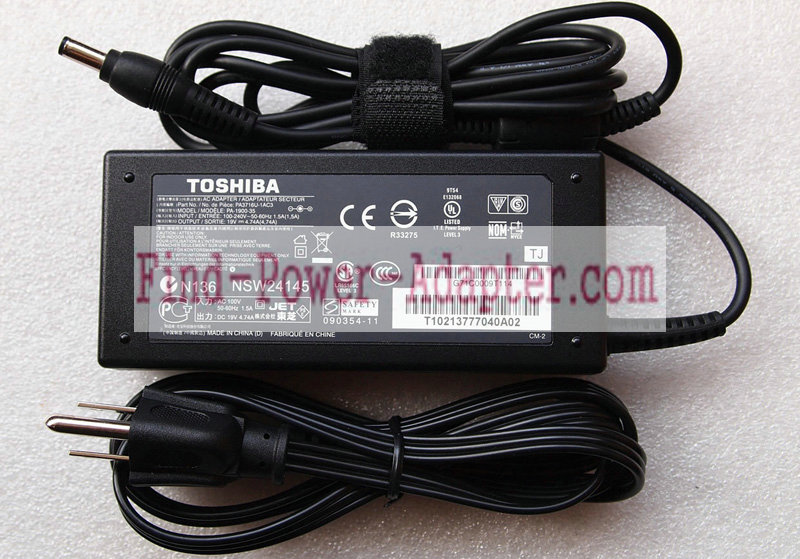Toshiba ADT-W61 19V 4.74A AC/DC Adapter - Toshiba ADT-W61 19V 4.74A Power Supply Cord
