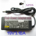 Nec 19V 3.16A PA-1600-01 ADP-60NH AC Adapter